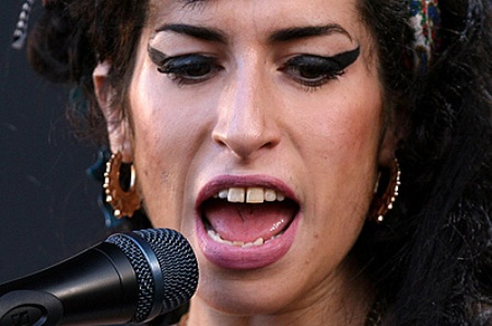 Amy Winehouse performs during the Oxegen Festival 2008 at the Punchestown Racecourse, Naas, County Kildare, Ireland.